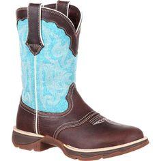 Lady Rebel by Durango Women's Turquoise Round Toe Saddle Western Boot DRD0193 #Durango #Cowboy