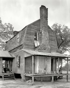 "Nash County, North Carolina, 1936. ""Breake Farm, Taylor's Crossroads."" 8x10 inch acetate negative by Frances Benjamin Johnston. View full size."