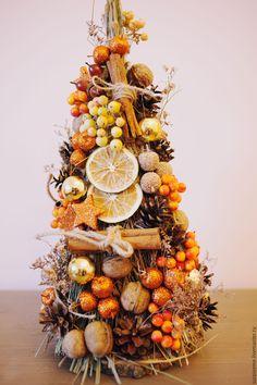 """Купить Новогодняя елка """"Уютное наслаждение"""" - оранжевый, елка, елка новогодняя, елка ручной работы"""