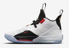 f6d43f87b28ef4 The Air Jordan 33 Future of Flight (Style Code  comes dressed in a White Metallic  Gold Black-Vast Grey colorway with a release date set for