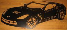 Art en métal corvette Stingray 2014 par SignPerformance sur Etsy