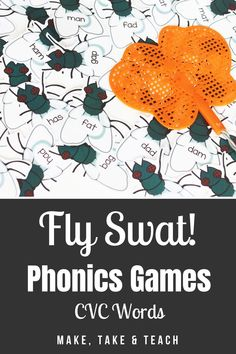 Your students will love learning and practicing CVC words with this interactive hands on activity! Perfect for first grade literacy centers! Teaching Phonics, Phonics Activities, Kindergarten Literacy, Hands On Activities, Literacy Centers, Cvc Words, Sight Words, First Grade Games, Short Vowel Activities