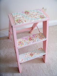 DIY::Shabby Chic Little Ladder Make Over
