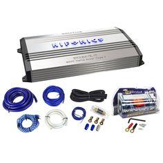 Package: Hifonics Brutus BRX2416.1D 2400 Watt RMS Class D Mono Block Car Amplifier With Bass Remote + Rockville RWK01 0 Gauge 2 Channel Complete Car Amplifier Installation Kit With A Set of RCA Cables + Rockville RXC4D 4 Farad/12 Volt Digital Power Capacitor
