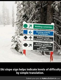 Best ski slope sign