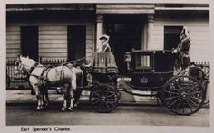 "'Earl Spencer's Chariot"" pulled by greys, when there were still coaches on the streets of London."