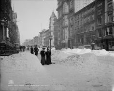 Fifth Avenue after a snow storm New York City, 1905 Source: Library of Congress, Detroit Publishing Co.