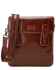 Dopp® by Buxton Leather Messenger Bag