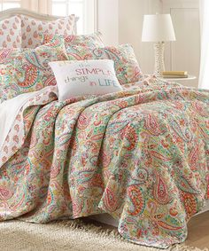 Look at this Jubilee Paisley Twin Quilt Set on #zulily today!