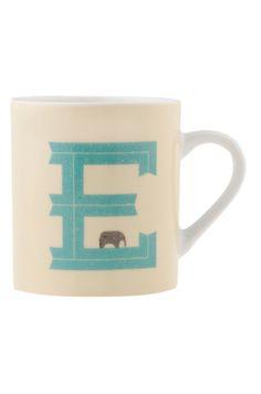 E Letter Mug