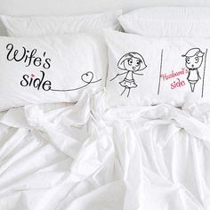I Like Her Butt I Like His Beard gift Couple Pillow cases Bridal Shower Wedding Cotton Anniversary Pillowcases Engagement Newlywed Gifts Cotton Anniversary Gifts For Him, Wedding Anniversary Presents, Second Anniversary, Anniversary Decorations, Valentine Gifts For Girls, Christmas Gifts For Friends, Personalized Couple Gifts, Personalized Pillows, Couple Pillowcase