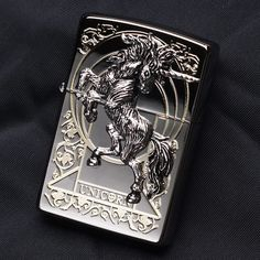 Japanese Black ice Unicorn Emblem Zippo Lighter