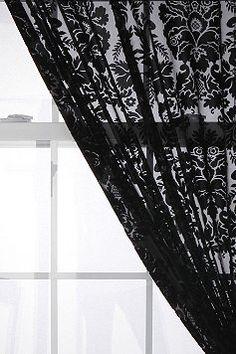 Damask Velvet Burnout Curtain