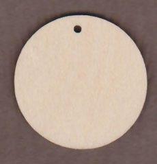 "WT1345-1 Circle With 1 Hole-2"" circle"