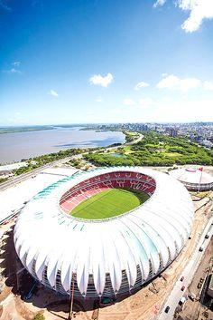Estadio Beira-Rio, Brasil   Galería de fotos 14 de 16   AD MX Soccer Stadium, Football Stadiums, Football Soccer, Roof Structure, Building Structure, Building Design, Stadium Architecture, Architecture Design, Sc Internacional