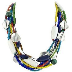 Nothing adds spunk like this Simon Alcantara Multi Strand Brights Necklace |