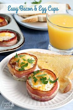These Easy Bacon & Egg Cups are perfectly poppable & portable making them great for a weekend brunch spread or for a quick & hearty breakfast on the go... Okay, so I totally teased you all with this r