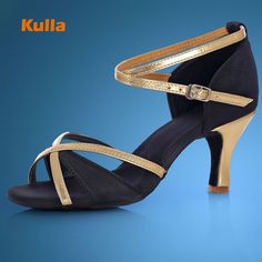 b7929f29374 KULLA Hot Adult Latin Dance Shoes Woman Ballroom Tango Salsa Dancing Shoes  For Ladies Black High-heeled Salsa Dance Shoes Girls     Click the VISIT  button ...