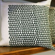 Printed pillow via much and little (2541 Main Street)