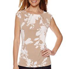d5931b0271879e Liz Claiborne® Sleeveless Pleated Knit Top - JCPenney Liz Claiborne