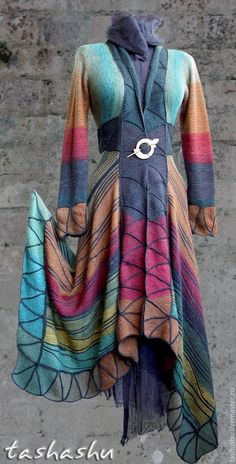 THE MOST AMAZING WORK! MK waves from the remnants of yarn. - Fair Masters - handmade, handmade