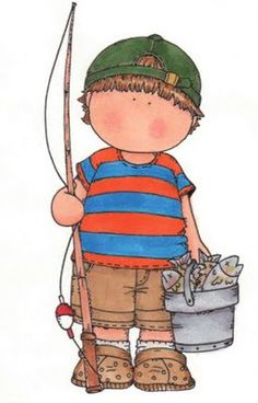 boy with fishing rod