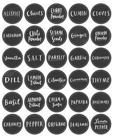 Free Printable Pantry Organization Labels.