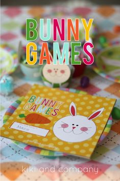 Free Printable Bunny Games from Kiki and Company for Tatertots and Jello-- #DIY #Easter #Printables