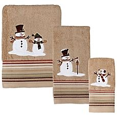 image of Heartland Snowman Towel Collection