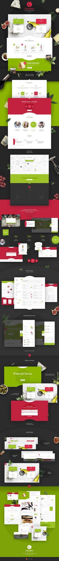 Camembert - ultimate WordPress theme on Behance