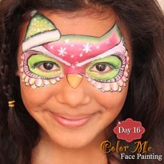 25 Days of Christmas, Day 16 - Christmas Owl - Color Me Face Painting