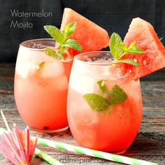 Watermelon Mojito, one taste of this refreshing cocktail and you'll be hooked! It's slightly sweet, fruity, light and simply perfect for a hot summer day!