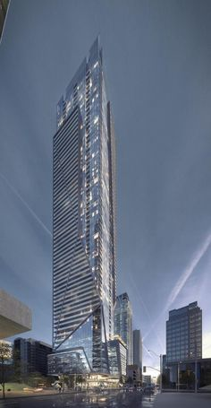 Looking south towards 1 Eglinton East, designed by Hariri Pontarini Architects for Davpart Inc.