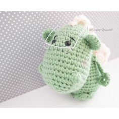 Wise dragon  {Free pattern by Lucía Sànchez @lanukas on Ravelry}  #あみぐるみ…