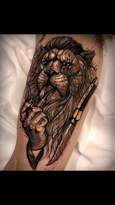 20 Cool Forearm Tattoos for Men - Recently I found that a lot of people around me choose tattoos Simple black and white patterns, Lik - Best Sleeve Tattoos, Tattoo Sleeve Designs, Tiger Tattoo Sleeve, Lion Tattoo Sleeves, Cool Forearm Tattoos, Badass Tattoos, Couple Tattoos, Tattoos For Guys, Tattoo For Man