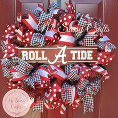 014972bc4 Alambama Wreath - Alabama Deco Mesh Wreath - University of Alabama Wreath - Roll  Tide Wreath