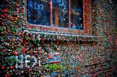 Seattle's Post Alley gum wall