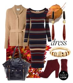"""""""Long Sleeve Dress 9to5-Look"""" by maranella ❤ liked on Polyvore featuring moda, 3.1 Phillip Lim, Oasis, Yves Saint Laurent, Chloé y Isabel Marant"""