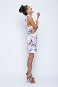 Lila Flora Backless Mini Dress Side | by We Are Kindred