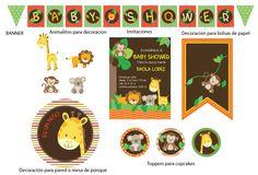 invitaciones de baby shower para niño de animalitos - Buscar con Google