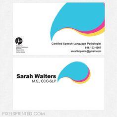 16 Best Speech Language Pathologist Business Cards And Stationery