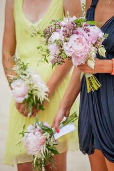 perfectly un-tailored pink peonies  #weddingbouqet