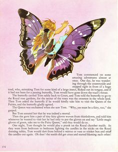 Tom Thumb  Vintage Illustration Storybook Print  Deans A