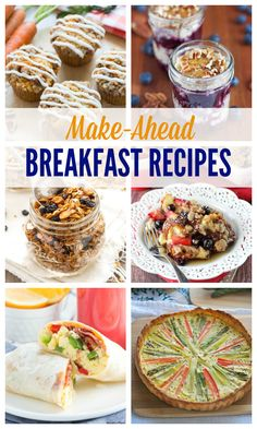 Make mornings easy with over 20 of the best Make-Ahead Breakfast Recipes! Muffins, quiche, French toast and more!