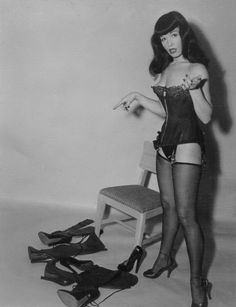 Bettie Page's Boot Dilemma....