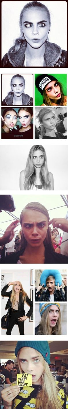 """best cara delevingne faces"" by taniarndyn ❤ liked on Polyvore"