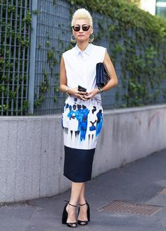 Who's That Girl? Esther Quek via @WhoWhatWear