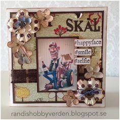 "Randis hobbyverden: Maskulint kort med gubbe og ""Skål"""