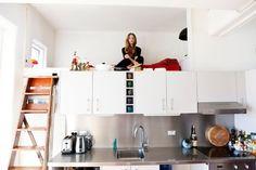 hochbetten erwachsene design über küchenzeile