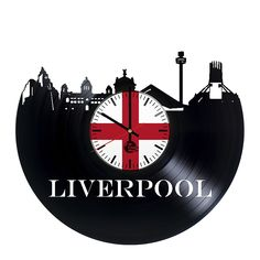 Liverpool UK Vinyl Record Wall Clock - Get unique home wall art decor - Gift ideas for men and women, boys and girls – Unique United Kingdom City Art - Leave us a feedback and win your custom clock >>> Check this awesome product by going to the link at the image. (This is an affiliate link) #Clocks